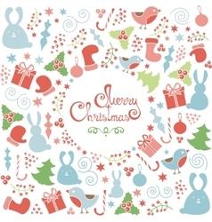 Christmas doodle elements set vector
