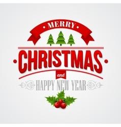 Christmas labels emblems decorative elements vector