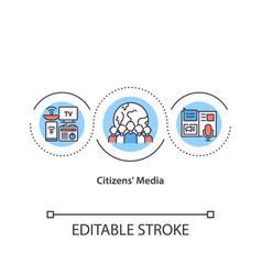 Citizens media concept icon vector