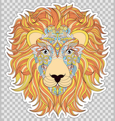 Colorful head of lion vector