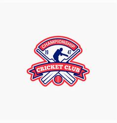 Cricket club badge logo-11 vector