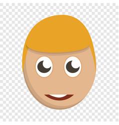 cute boy face icon cartoon style vector image