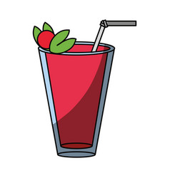 Delicious and fresh juice vector