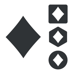 Diamonds icon set monochrome vector