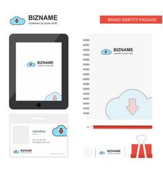 downloading business logo tab app diary pvc vector image