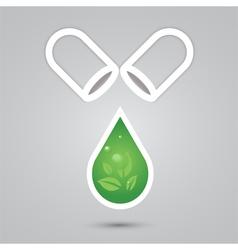 Eco Pill Capsule vector