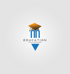 education logo template logo for international vector image