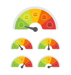 Emoticons mood scale flat - isolated vector