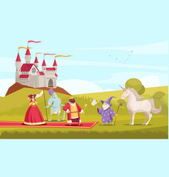 Fairy tale characters background vector