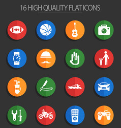 Father day 16 flat icons vector
