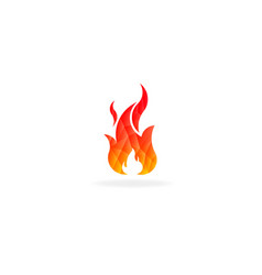 fire flame with negative space low poly vector image
