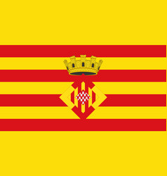 Flag of girona is a province of spain vector