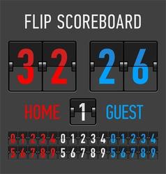 Flip Scoreboard vector image