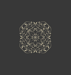 floral abstract ornament of square shape vector image