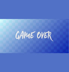 Game over computer screen simple vector