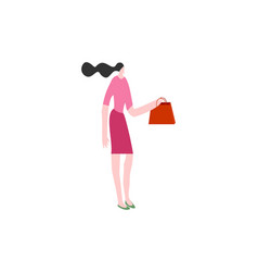 girl shopping time use in we vector image