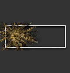 Golden glitter explosion on grey background vector