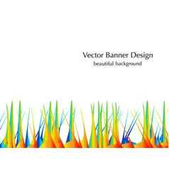 Grass and sand vector
