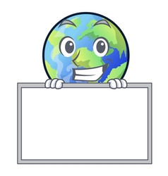 Grinning with board earth in shape on vector
