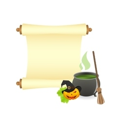 Halloween manuscript vector