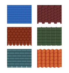 horizontal pattern tiles for roofed house vector image