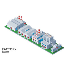 industrial factory and warehouse building vector image