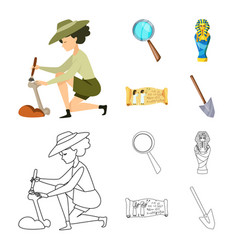 Isolated object of story and items sign set of vector