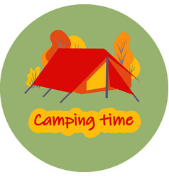 logo for tourist base or camp children s camp vector image