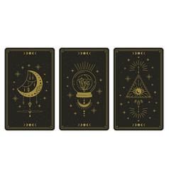 magical tarot cards magic occult tarot cards vector image