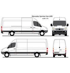 Mercedes sprinter cargo van lwb vector