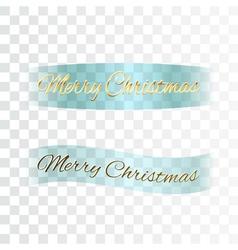 Merry Christmas ribbon vector