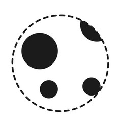 moon icon image vector image