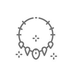 Necklace teeth prehistoric jewellery vector