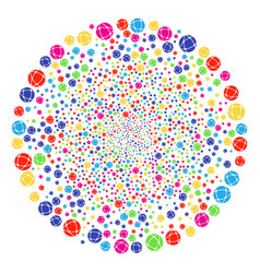 Network festive round cluster vector