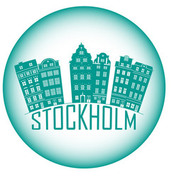 old town stockholm sweden travel landmark icon vector image