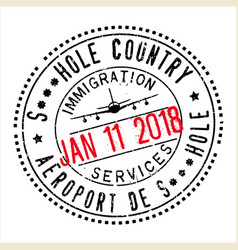 Passport stamp design for shithole countries vector