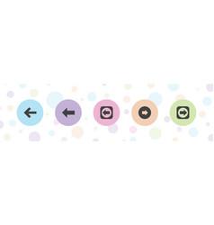 Previous icons vector