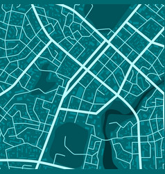 print with blue town topography abstract blue vector image