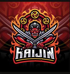 Raijin esport mascot logo design vector