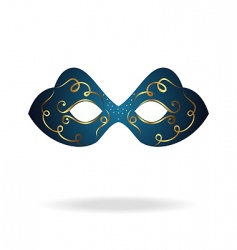 realistic carnival or theater mask vector image