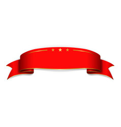 red satin empty ribbon blank banner design vector image