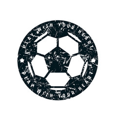 round emblem of soccer championship vector image vector image