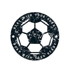Round emblem of soccer championship vector