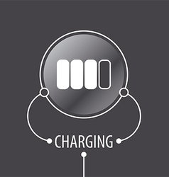 Round logo Battery Charger vector