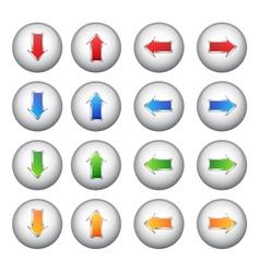 Set arrows buttons vector image