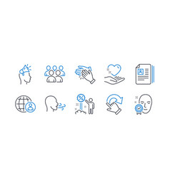 Set people icons such as rotation gesture vector