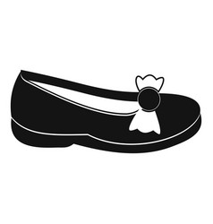 shoe icon simple style vector image