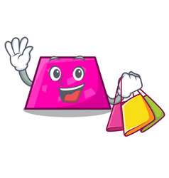Shopping trapezoid character cartoon style vector