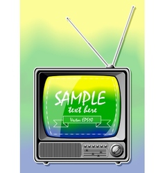 Summer Color TV vector image