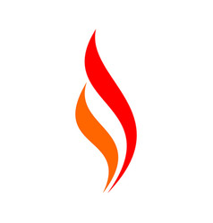 Swoosh flame logo template vector